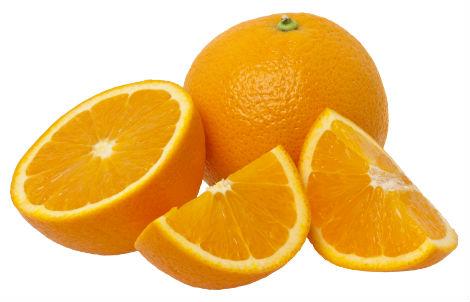 Orangenstücke
