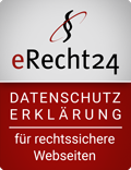 Siegel eRecht 24 Datenschutz